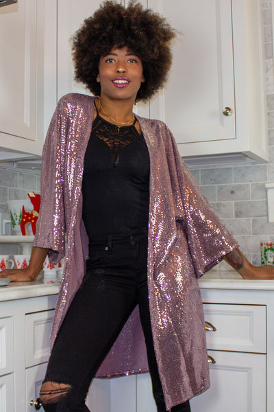 Shimmer Duster in Pink