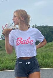 Ultimate Babe Crop Tee in White
