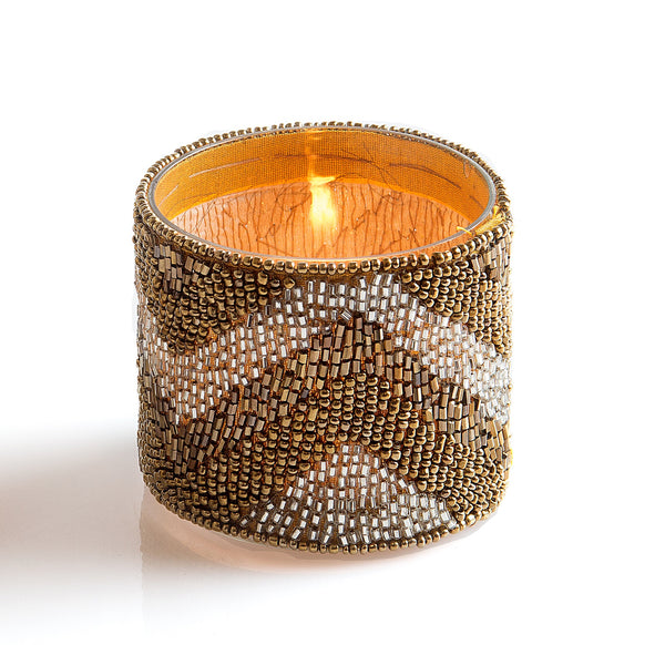 Beaded Design Sleeve Tealight Holder - The Fragrance People