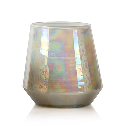 Oil Finish Glass Candle - White