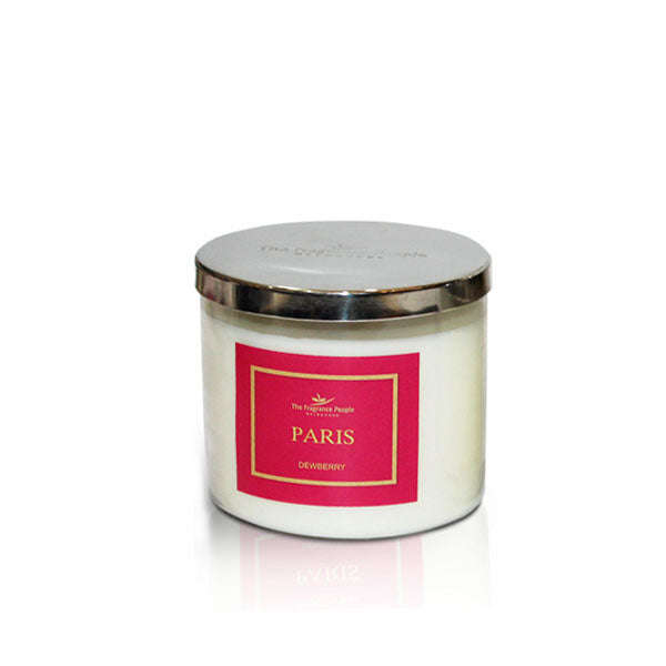 3 Wick Jar Paris Candle