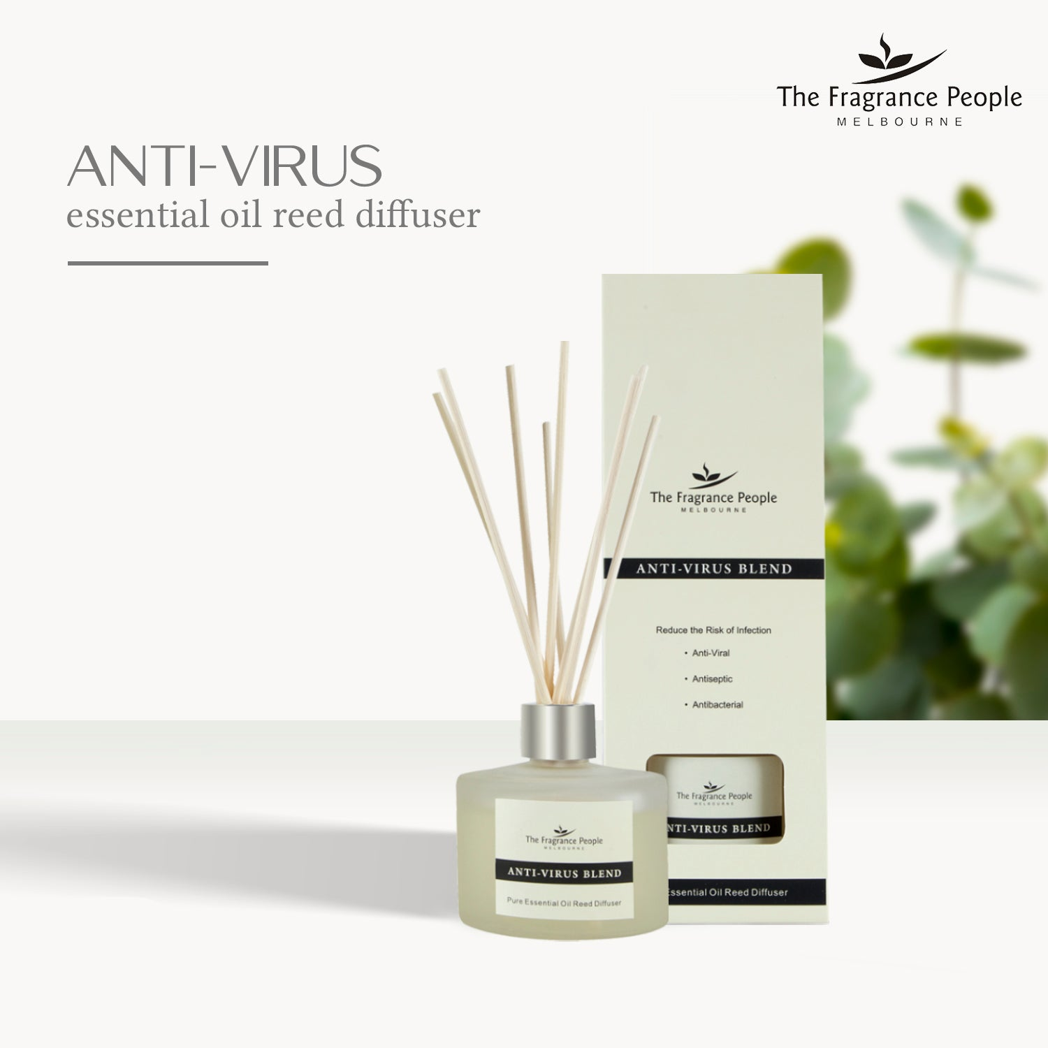 Get 3 Products in 1 Combo ( Anti-Virus Pure Essential Oil Reed Diffuser + Citronella Floral Incense Sticks + Pillow Spray Anti Stress )