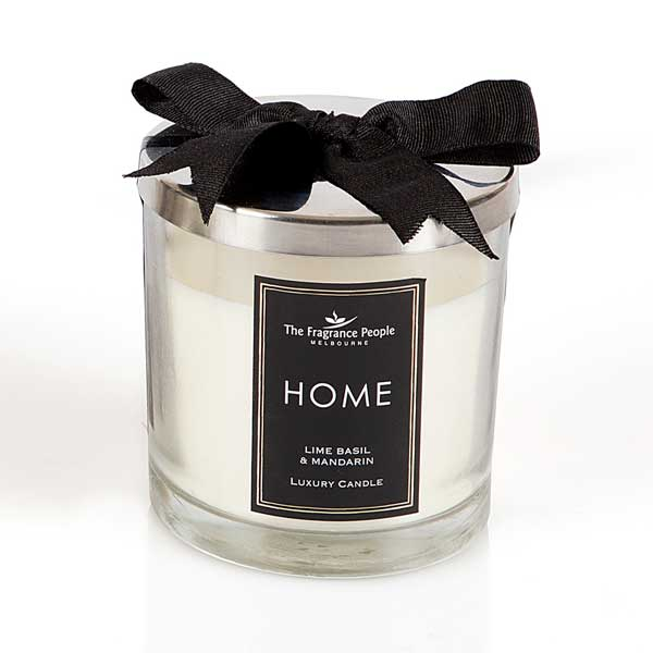 Luxury Glass Jar Medium Candle - Lime Basil Mandarin - The Fragrance People