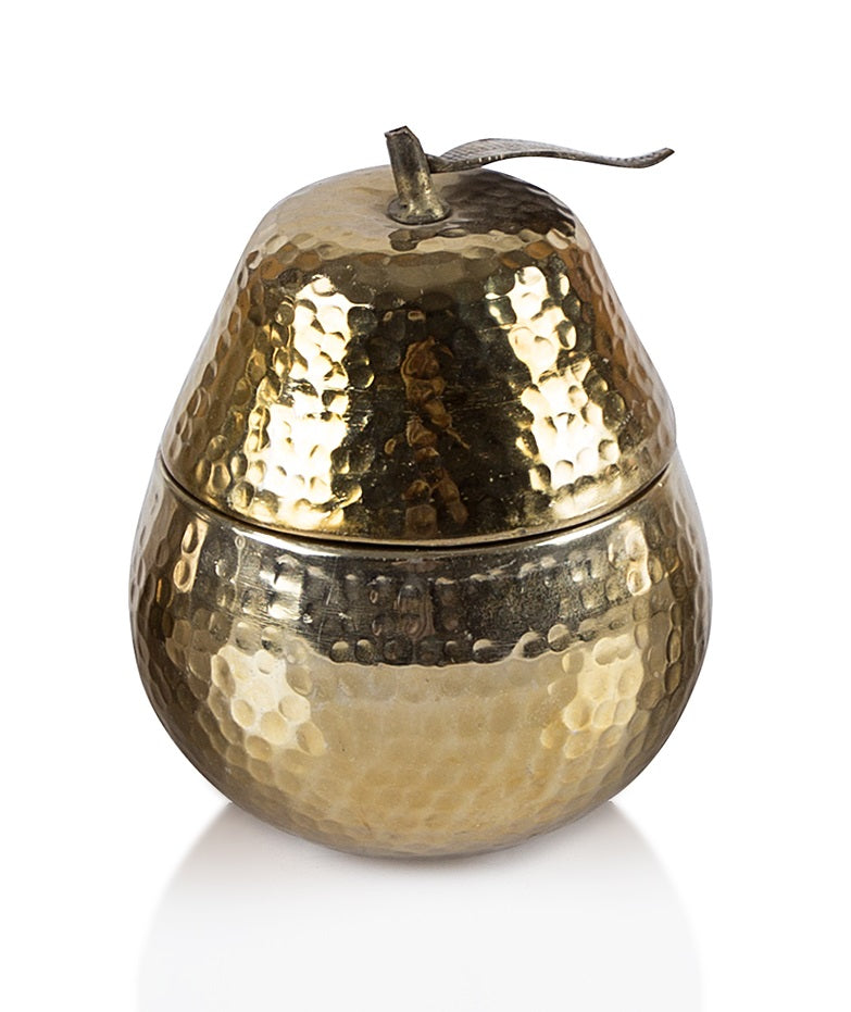 Pear hand-beaten Metal Candle - Gold - The Fragrance People