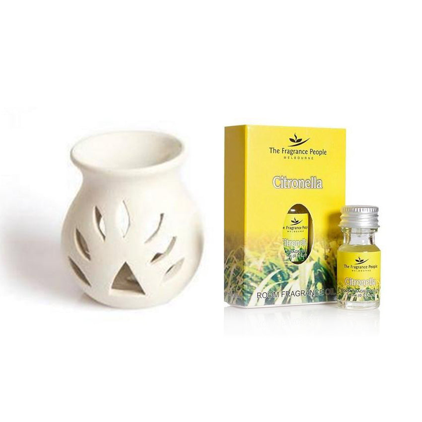 Combo Aroma Lamp with Citronella Fragrance Oil - 10ML - The Fragrance People