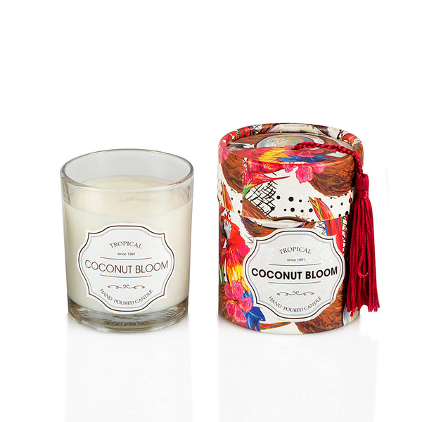 COCONUT BLOOM  Glass Candle