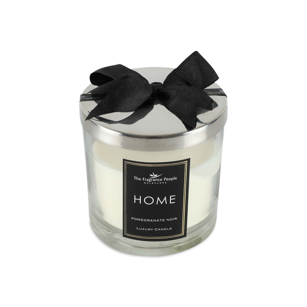 Luxury Glass Jar Medium Candle - Pomegranate Noir