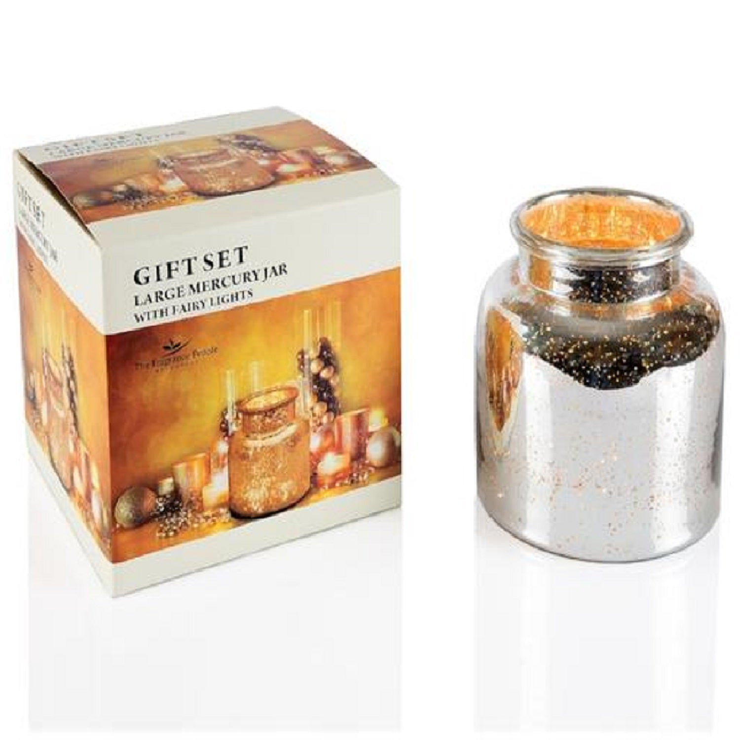 Mercury Jar with Fairy Lights - Gift Set - The Fragrance People
