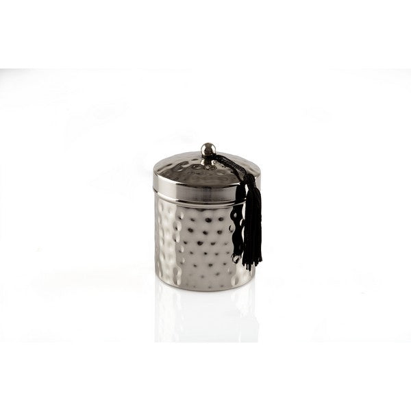 Silver Finish Metal Candle - The Fragrance People