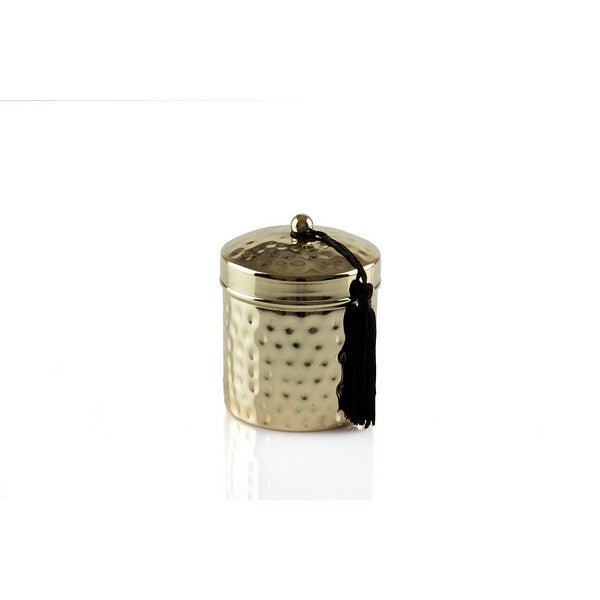 Gold Finish Metal Candle - The Fragrance People