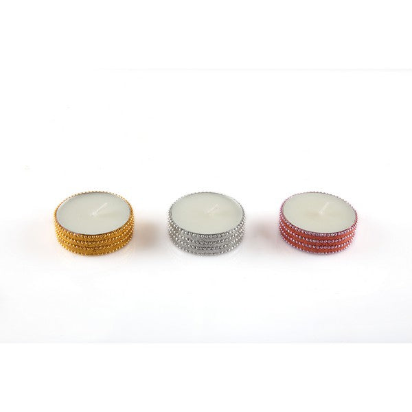 Glitter Beaded Candle Set of 3 - The Fragrance People