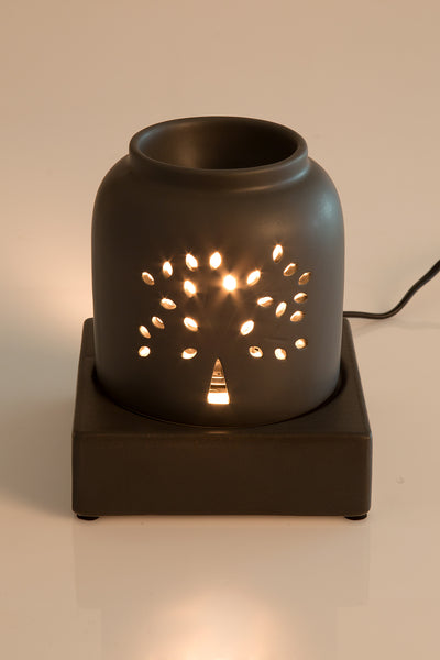 Electrical Aroma Lamp Black Tree Of Life - The Fragrance People