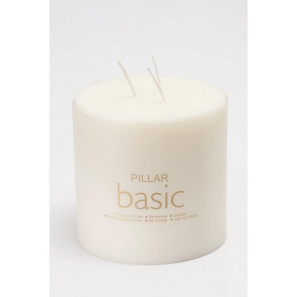 Pillar candle 6* 6 Basic - The Fragrance People