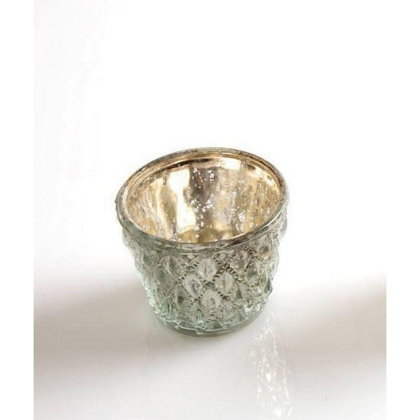 Silver Mercury Glass Tea Light