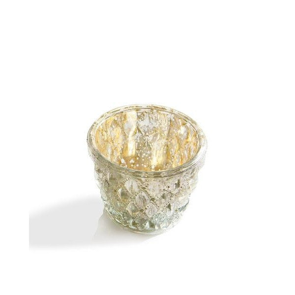 Gold Mercury Glass Tea Light Holder - The Fragrance People