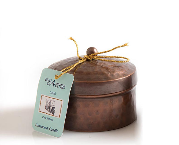 HAND-BEATEN ANTIQUE COPPER FINISH CANDLE - The Fragrance People