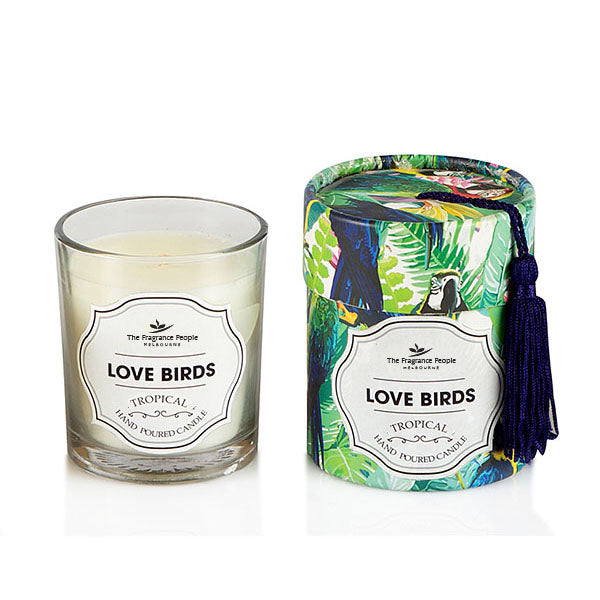 Love Birds Glass Candle - The Fragrance People