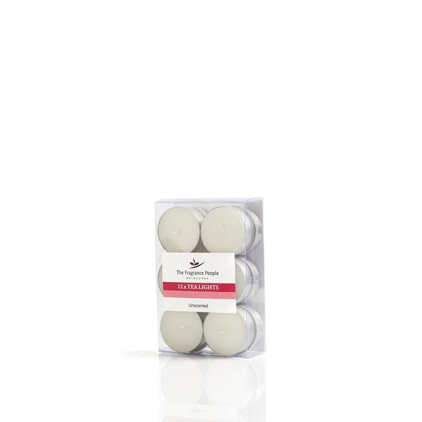 UNSCENTED TEA LIGHTS PACK OF 12 - The Fragrance People