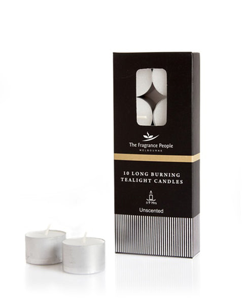 SET OF 10 TEALIGHTS - 9 HR BURNING - The Fragrance People