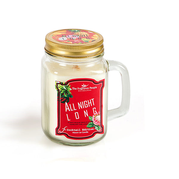 All night long Mason Jar Candle - The Fragrance People