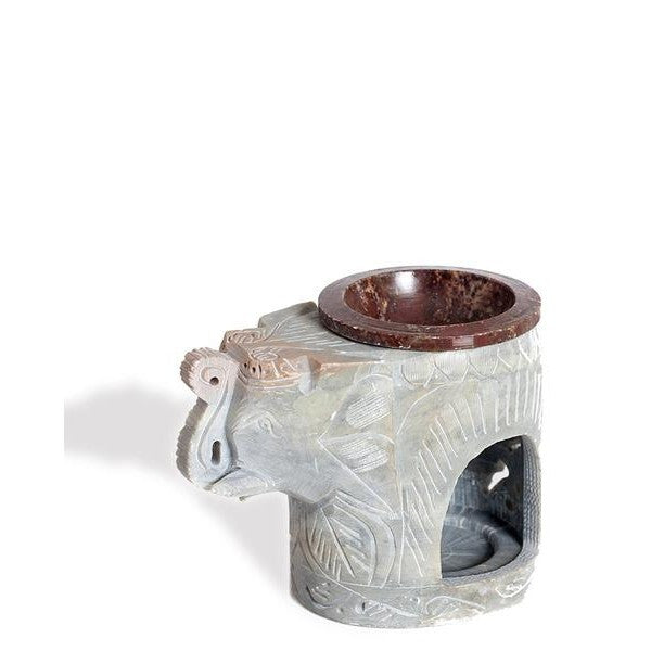 Elephant Soap Stone Lamp - The Fragrance People