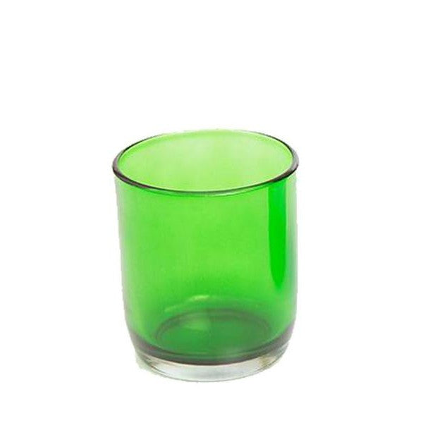 Green Glass Tealight Holder - The Fragrance People