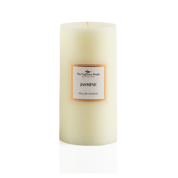 Jasmine Large Pillar Candle - The Fragrance People