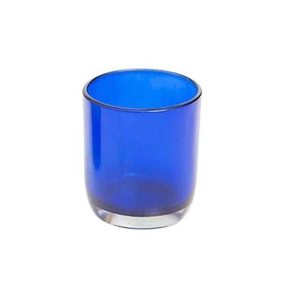 Blue Glass Tea Light Holder - The Fragrance People
