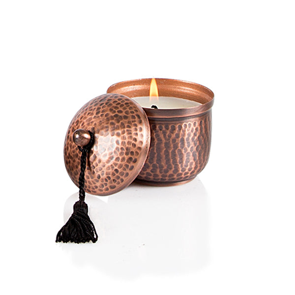 Hand Beaten Antique Copper Candle - The Fragrance People