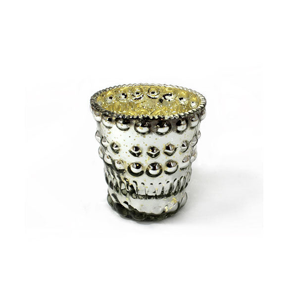 Bubble Silver Mercury Glass Tea Light Holder - The Fragrance People