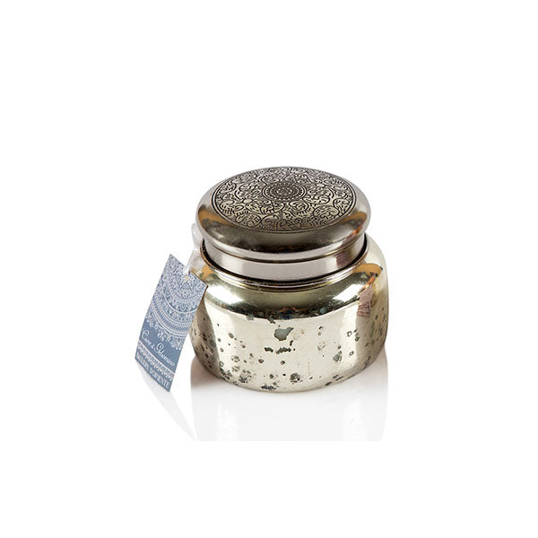 Silver Antique Mercury Jar Candle - The Fragrance People