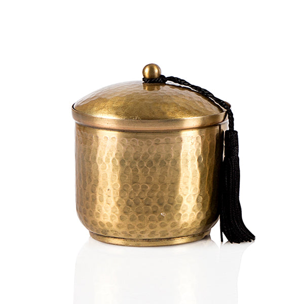 Hand Beaten Antique Gold Candle - The Fragrance People