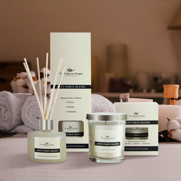 Get 2 Products in 1 Combo ( Anti Virus Reed Diffuser + Anti Virus Candle )
