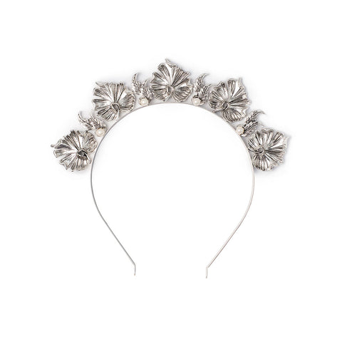 Lotus Headpiece Silver