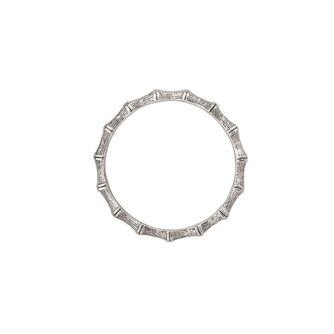 Bambu` Bangle Silver