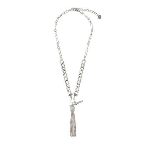 Tassle Necklace Silver