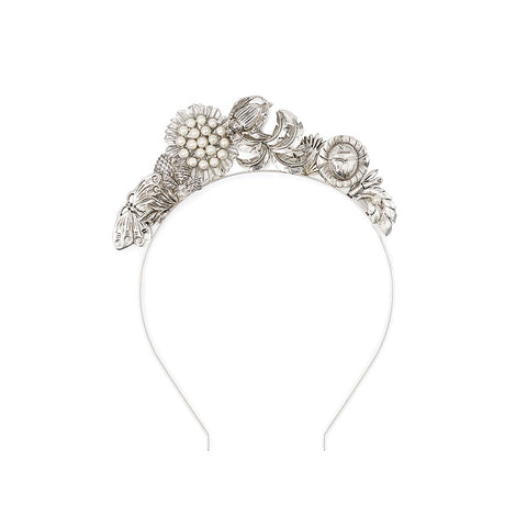 Mariposa Headpiece Silver