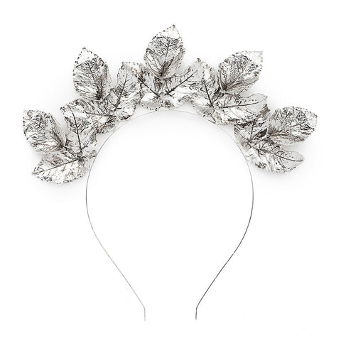 The Midnight Crown Headpiece - Silver