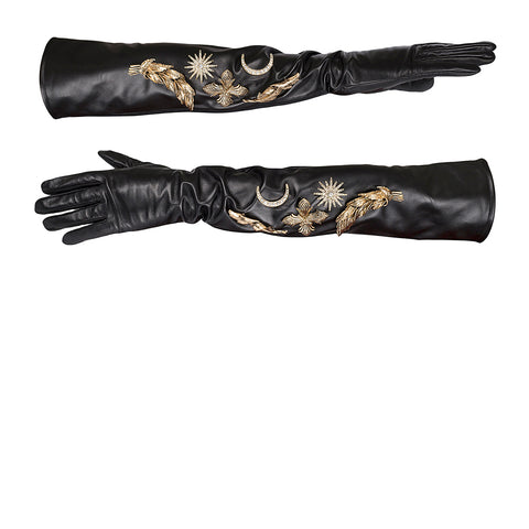 Wild Grandeur Gloves - Black/Gold