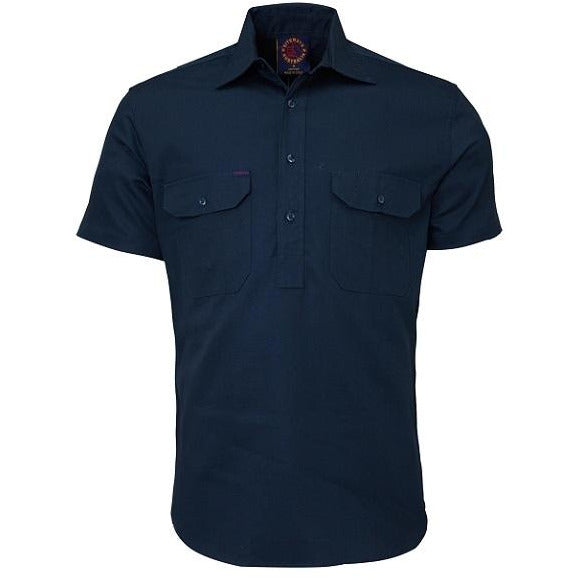 Hard-Wearing Australian Closed Front Short Sleeve Shirts