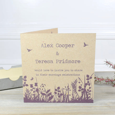 WILDFLOWER FOLDED INVITATION