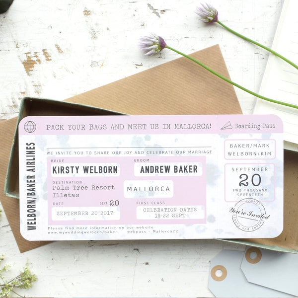 VINTAGE STYLE LOCATION BOARDING PASS