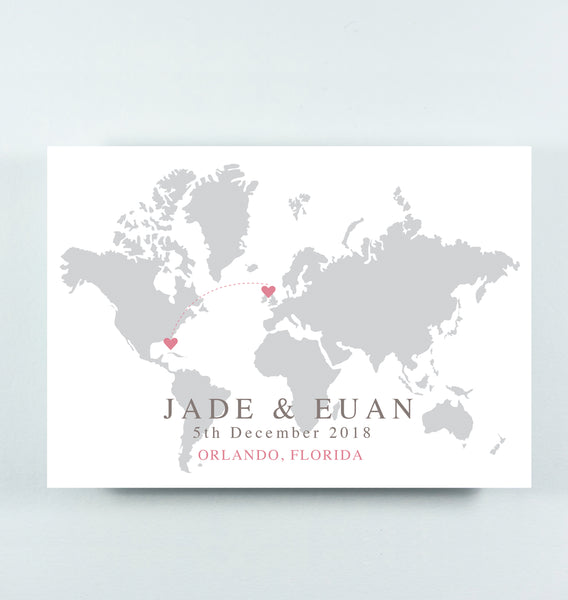'Jade' - Grey Map on White