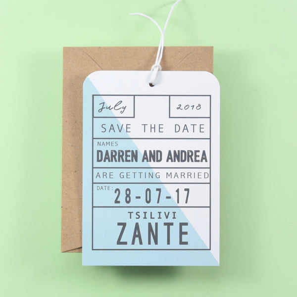 Modern Geometric Luggage Tag