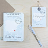 Vintage STYLE Map Passport Invitation