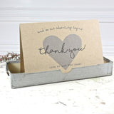 Hearty thank you card