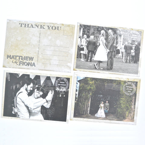 Personalised Vintage Style Thank you Postcards