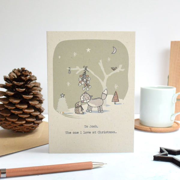 Love Personalised Christmas Card