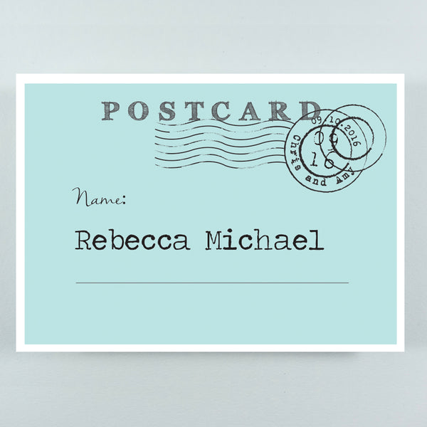 TENT FOLD POSTCARD STYLE PLACE NAME