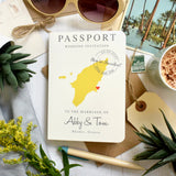 Passport Wedding Invitation - Abby
